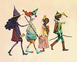 Nursery Art Kids Clown Princess Witch Multicolored