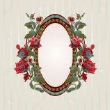 10430622-Vintage-Floral-Frame-mit-Rosen-Vektor-Illustration-Stockfoto