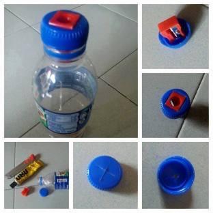 Sacapuntas con botellas de plástico