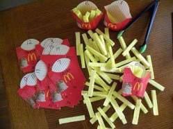 Contando con fast food