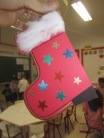 Adorno calcetín Papá Noel