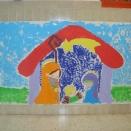 Pintar con témperas Mural El Nacimiento