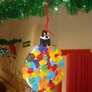 Adorno Bola de Navidad, bolitas de papel de seda