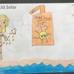 """Agosto, un buen consejo representado en un original dibujo. """"Sol y playa"""", AGOSTO 2019"""